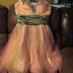 Iridescent pink party dress